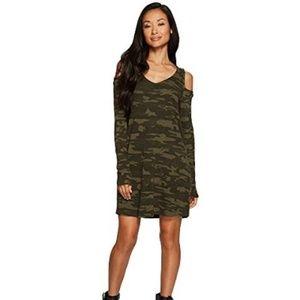 NWT Sanctuary Camo Off shoulder dress